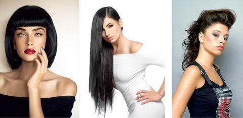 Hair, Face, Hairstyle, Black hair, Skin, Beauty, Chin, Shoulder, Long hair, Human,