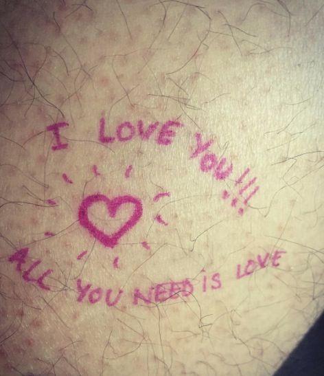 Pink, Text, Love, Handwriting, Skin, Font, Sky, Heart, Cloud, Line,