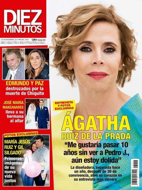 Ágatha Ruiz de la Prada, portada de Diez Minutos 3457
