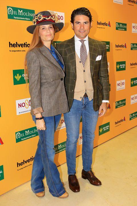 Yellow, Outerwear, Event, Jeans, Headgear, Jacket, Denim, Premiere, Blazer,