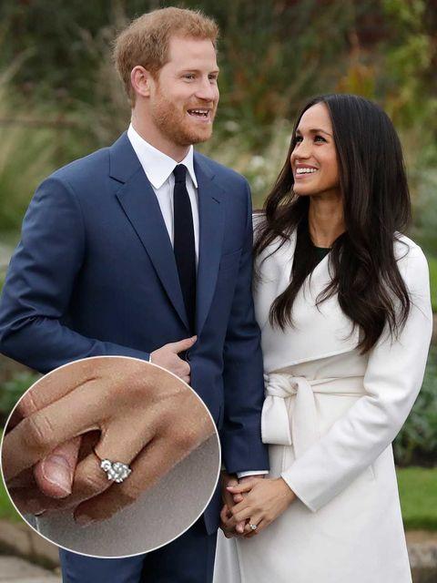 El príncipe Harry y Megan Markle en su pedida de mano