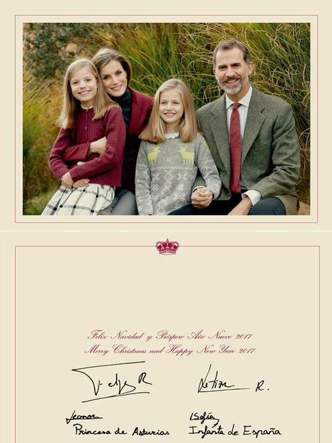 Felicitación de Navidad 2016 de los reyes Felipe y Letizia