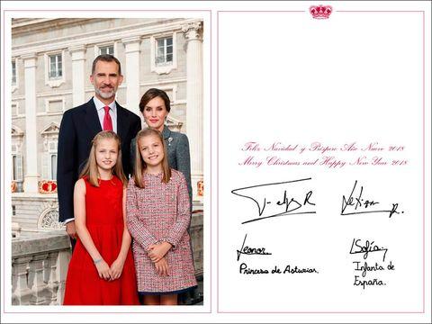 Felicitación Navidad 2017 de los Reyes Felipe y Letizia