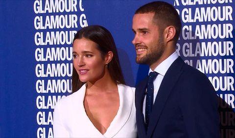 Malena Costa y Mario Suárez en la Fiesta de la revista Glamour