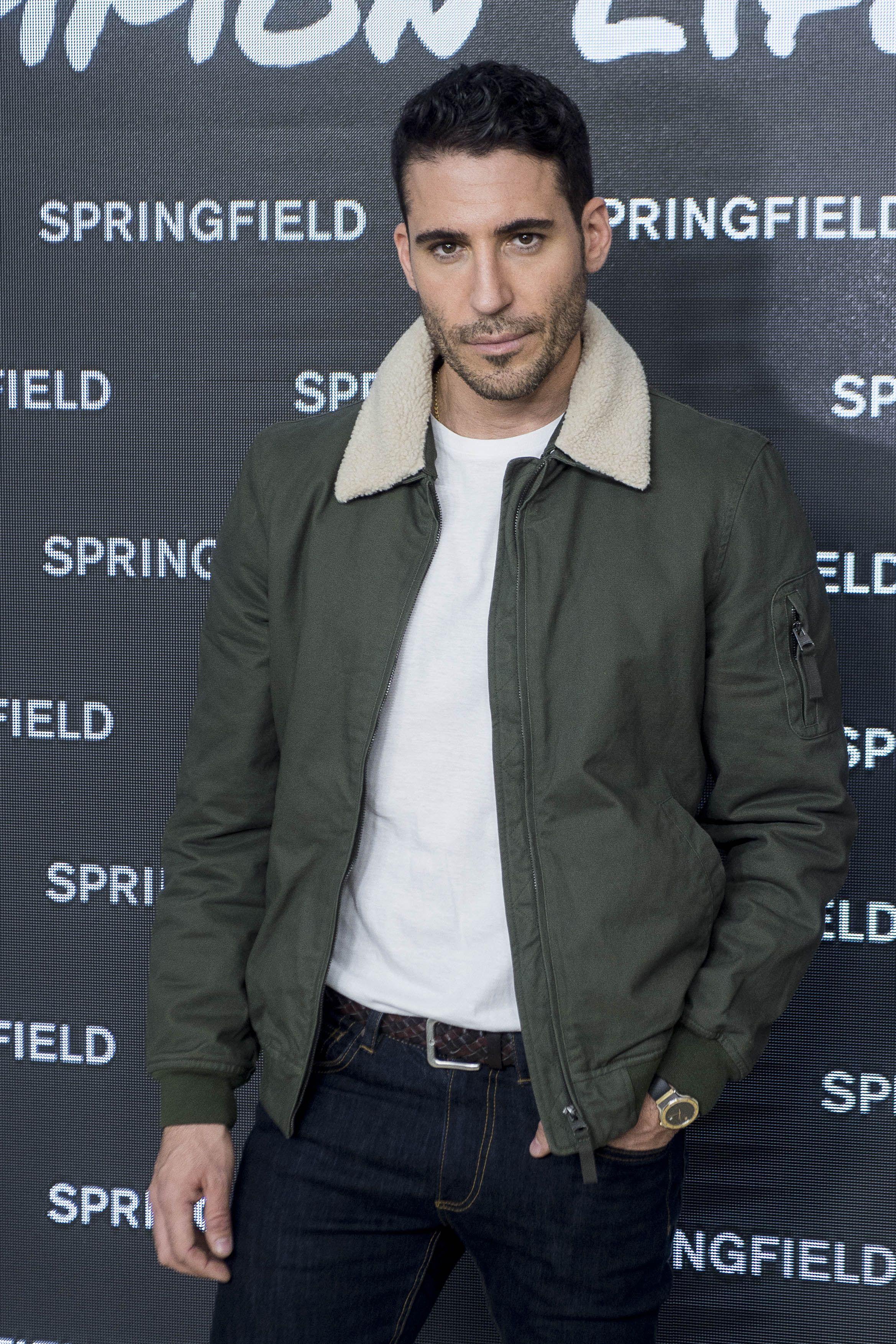 El actor Miguel Angel Silvestre durante la presentacion de la nueva campaña de Springfield en Madrid&#xA&#x3B;31/10/17
