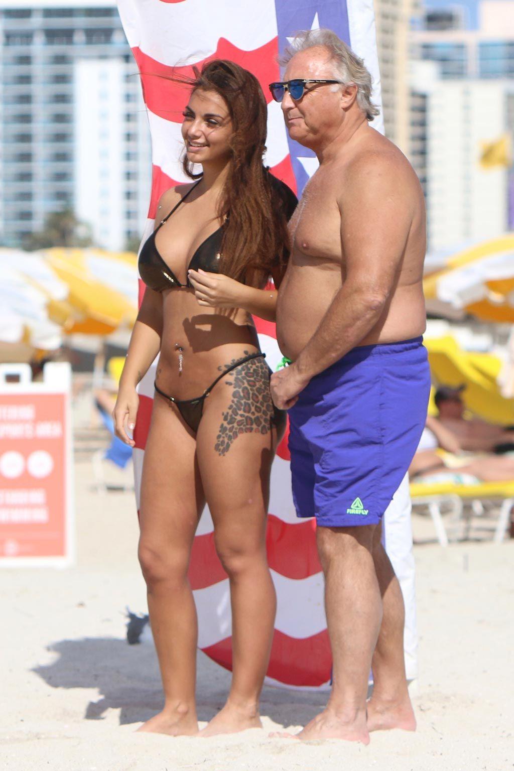 Elettra Lamborghibi en biquini en Miami