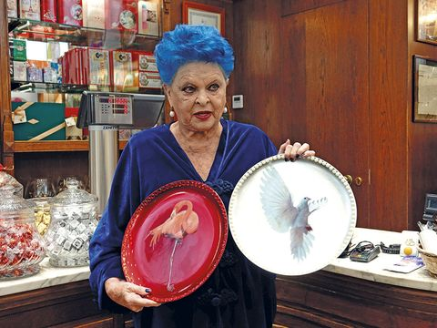 Plate, Hair coloring, Wig, Shelf, Flesh,