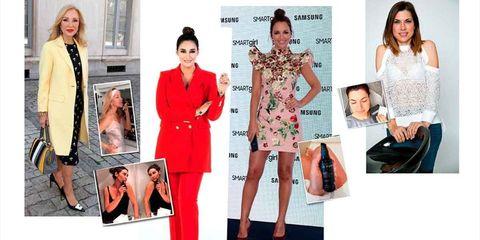 Clothing, Red, Fashion model, Fashion, Suit, Orange, Pink, Formal wear, Dress, Outerwear,