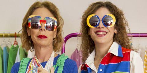 Eyewear, Sunglasses, Face, Glasses, Fun, Head, Lip, Vision care, Cool, Smile,