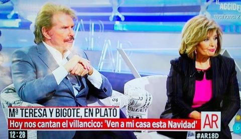 María Teresa Campos y Edmundo 'Bigote' Arrocet en El Programa de Ana Rosa