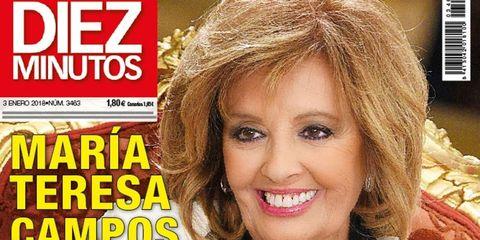 María Teresa Campos en la portada de Diez Minutos Nº 3463