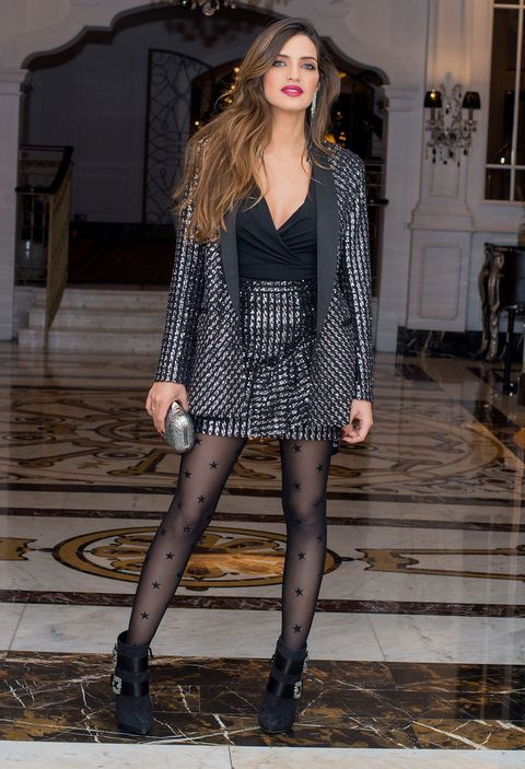 Clothing, Fashion model, Black, Tights, Fashion, Leg, Beauty, Thigh, Street fashion, Footwear,