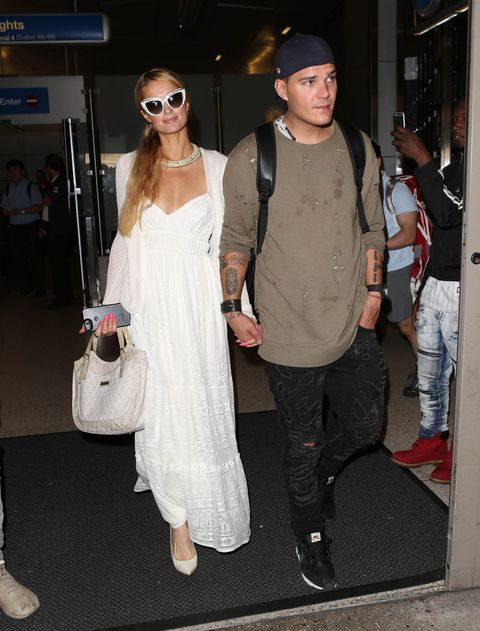 Paris Hilton and Chris Zylka in Los Angeles, CA.