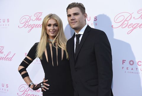 "Paris Hilton and Chris Zylka at the premiere of ""The Beguiled"" on Monday, June 12, 2017 in Los Angeles."