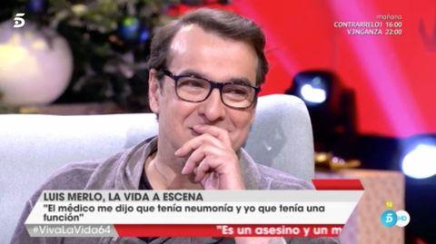 Luis Merlo emocionado en el programa de Toñi Moreno