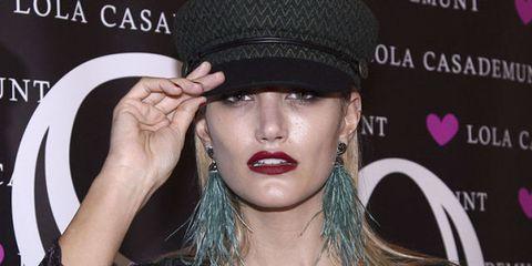Lip, Clothing, Hat, Eyebrow, Beauty, Skin, Nose, Cool, Fashion accessory, Cheek,