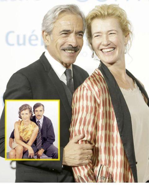 Ana Duato con Imanol Arias en Cuéntame