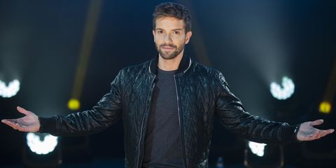 Leather, Cheek, Music artist, Performance, Jacket, Fashion, Leather jacket, Facial hair, Textile, Cool,