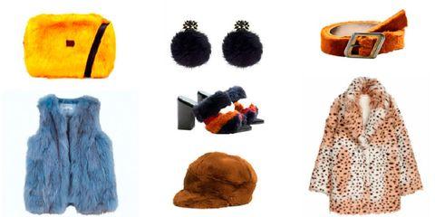 Fur, Orange, Yellow, Outerwear, Fashion accessory, Cap, Ear, Wool,