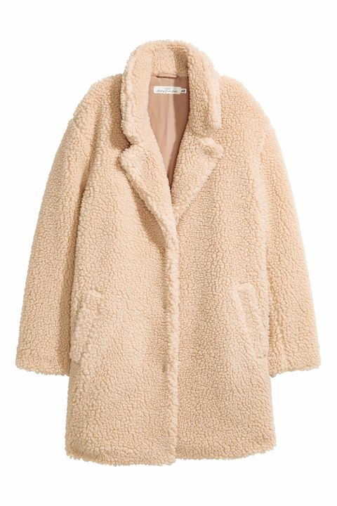 Clothing, Outerwear, Sleeve, Beige, Coat, Jacket, Fur, Overcoat, Collar,