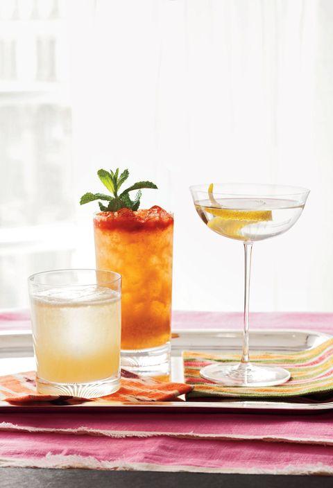 Liquid, Drink, Tableware, Alcoholic beverage, Drinkware, Classic cocktail, Serveware, Cocktail, Juice, Ingredient,