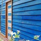 Blue, Wood, Plant, Property, Wall, Majorelle blue, Real estate, Fixture, Siding, Azure,