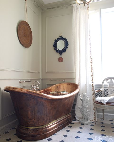 Room, Brown, Interior design, Property, Floor, Plumbing fixture, Wall, Bathtub, Flooring, Interior design,