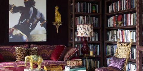 Room, Interior design, Furniture, Shelf, Bookcase, Shelving, Couch, Living room, Interior design, Publication,
