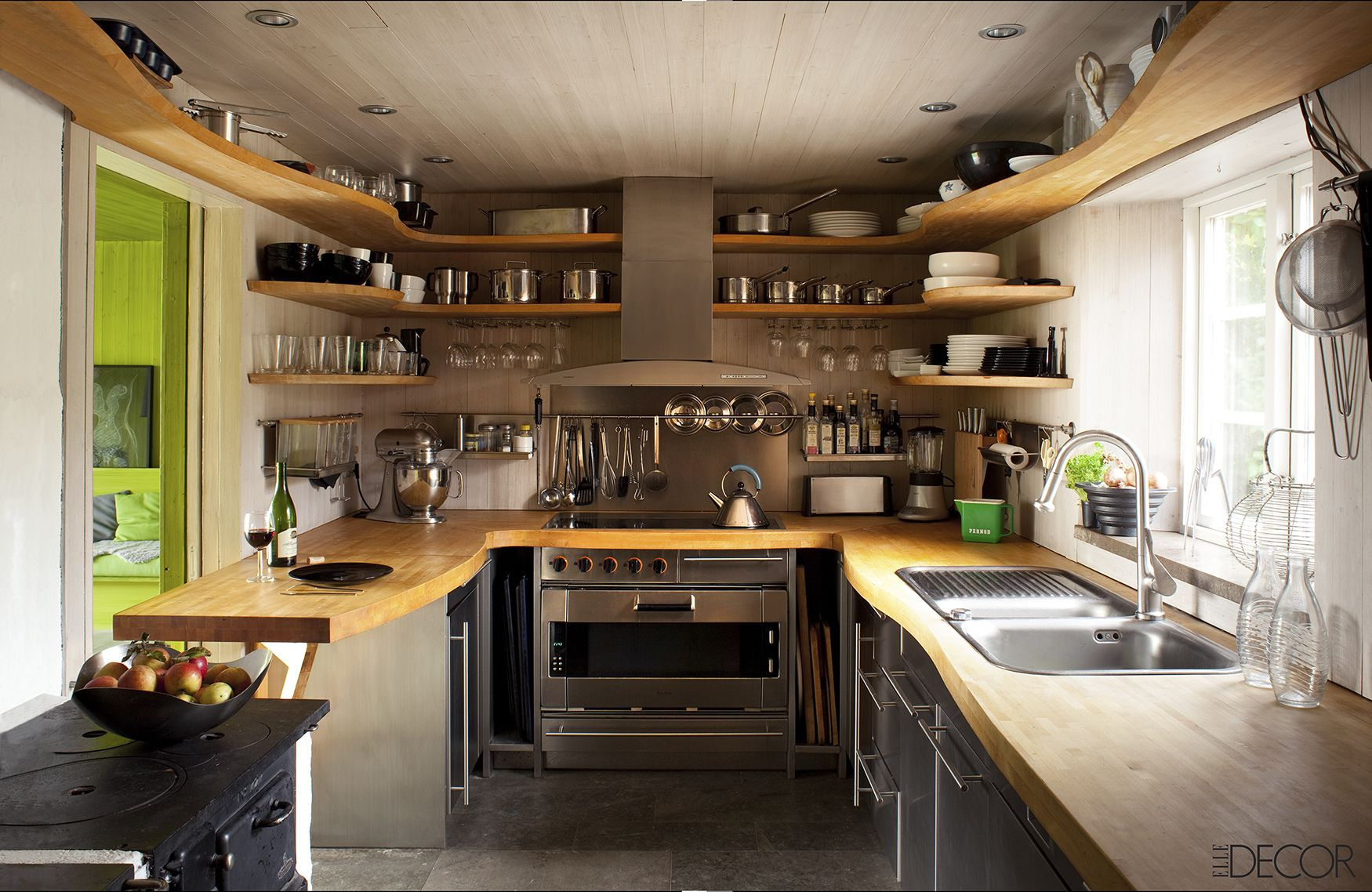 lovely Interior Design For Small Kitchen #7: Elle Decor