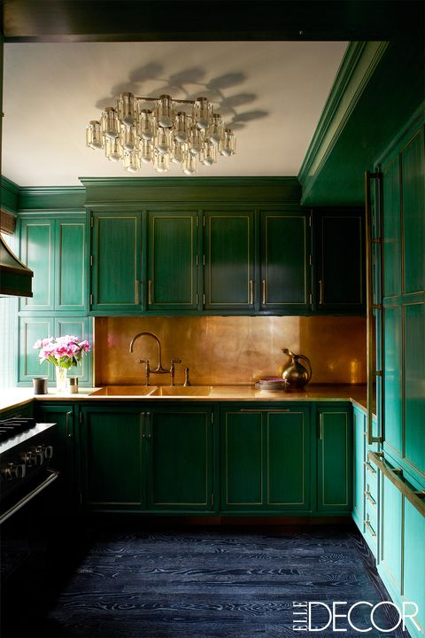 Green, Room, Kitchen, Cabinetry, Turquoise, Furniture, Property, Countertop, Architecture, Lighting,