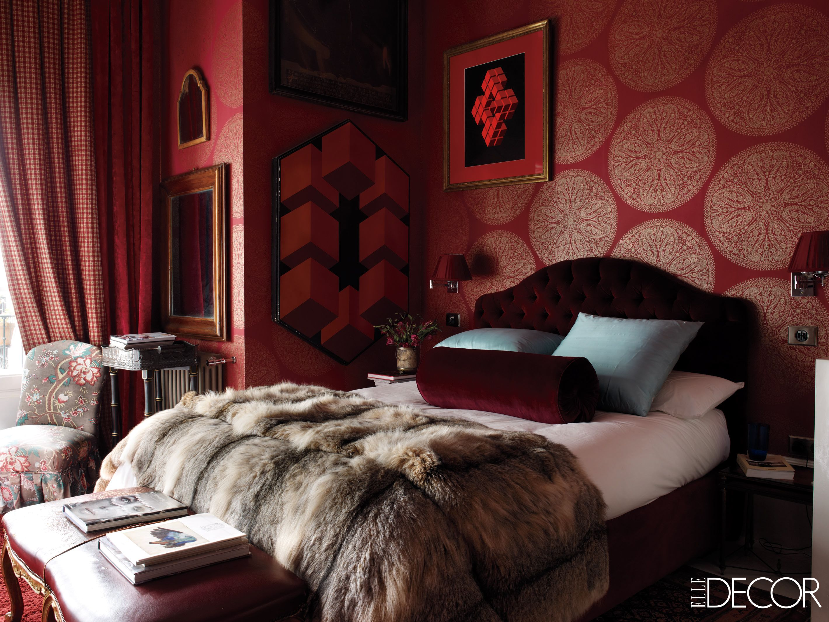 . Rooms with Red Walls   Red Bedroom and Living Room Ideas