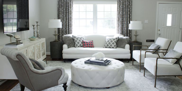 Living Room Makeover On A Budget Cool Before & After An Elegant Budgetfriendly Living Room Makeover Decorating Inspiration