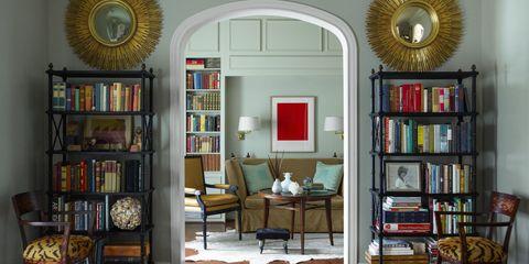 Room, Wood, Interior design, Shelf, Furniture, Shelving, Living room, Floor, Wall, Home,