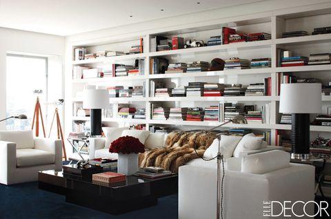 Room, Interior design, Shelving, Wall, Shelf, Interior design, Living room, Couch, Home, Grey,