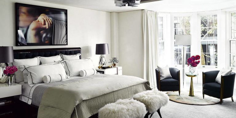 Bedroom Wall Decor & Art Ideas - Bedroom Artwork - ElleDecor.com