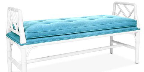 Blue, Furniture, Teal, Turquoise, Azure, Aqua, Rectangle, Linens, Outdoor furniture, Futon pad,