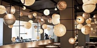 Lighting, Lighting accessory, Light fixture, Ceiling, Interior design, Cuisine, Ceiling fixture, Cookware and bakeware, Collection, Home accessories,