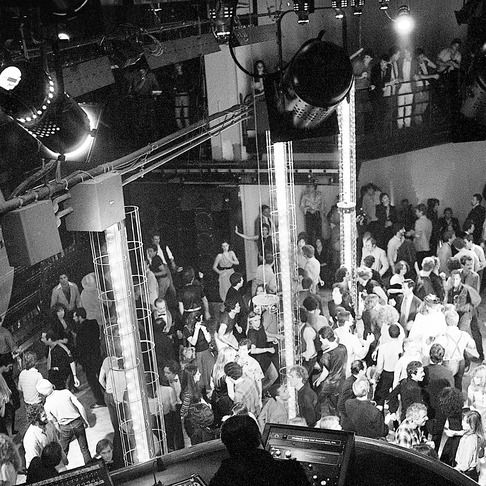 25 Sep 1979 --- Original caption: 9/25/1979-New York: People dancing on dance floor at the reopening of Studio 54 in New York City. --- Image by © Bettmann/CORBIS