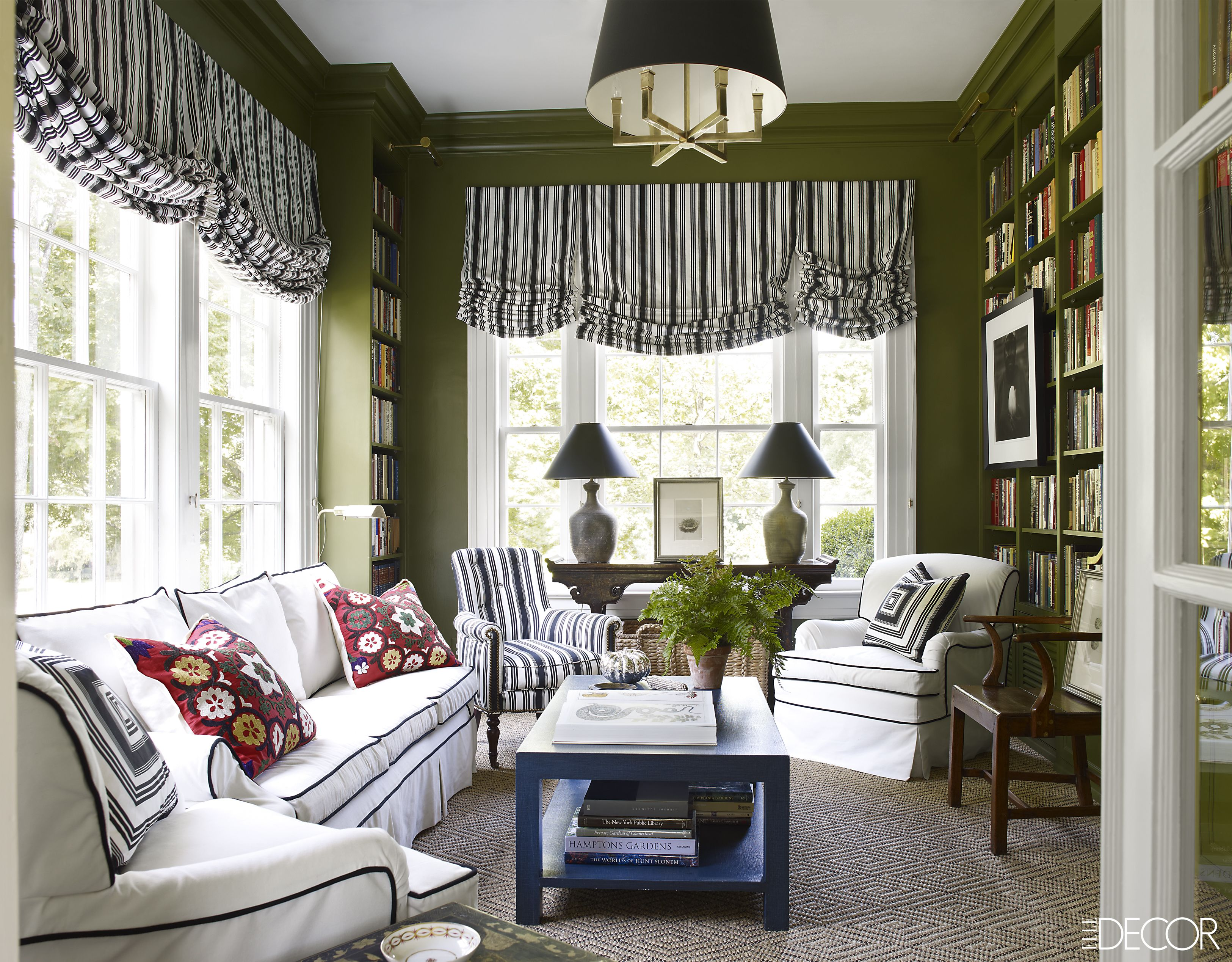 Living Room Color Green 20 best green rooms - green paint colors and decor ideas
