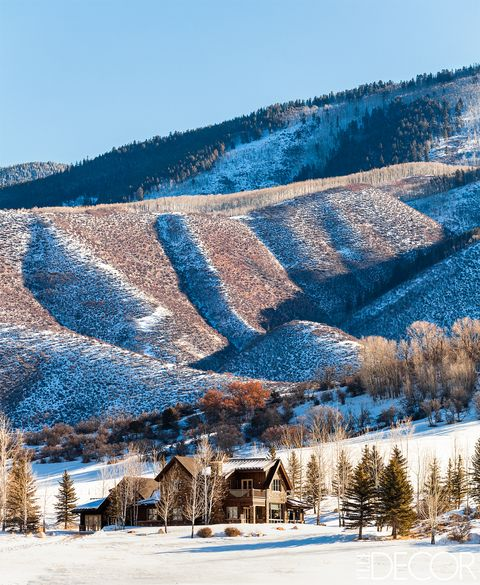 "A <a target=""_blank"" href=""http://www.elledecor.com/design-decorate/house-interiors/g671/aspen-mountain-chalet/"">house in the foothills of the Rocky Mountains</a>, on the outskirts of Aspen, Colorado, which was renovated and expanded by Paris-based designer Caroline Sarkozy and architect Laurent Bourgois."