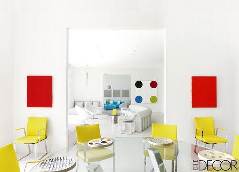Room, Product, Yellow, Interior design, Floor, Furniture, Wall, Pillow, Ceiling, Orange,
