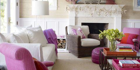 Room, Interior design, Living room, Home, Furniture, Floor, Wall, Table, Purple, Interior design,