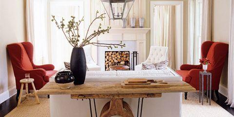 Wood, Room, Interior design, Furniture, Lamp, Table, Home, Interior design, Living room, Twig,