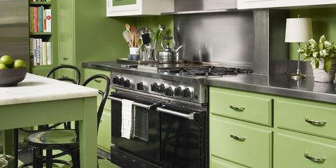 Green Kitchen Design Ideas Paint Colors For Green Kitchens - Green and grey kitchen ideas
