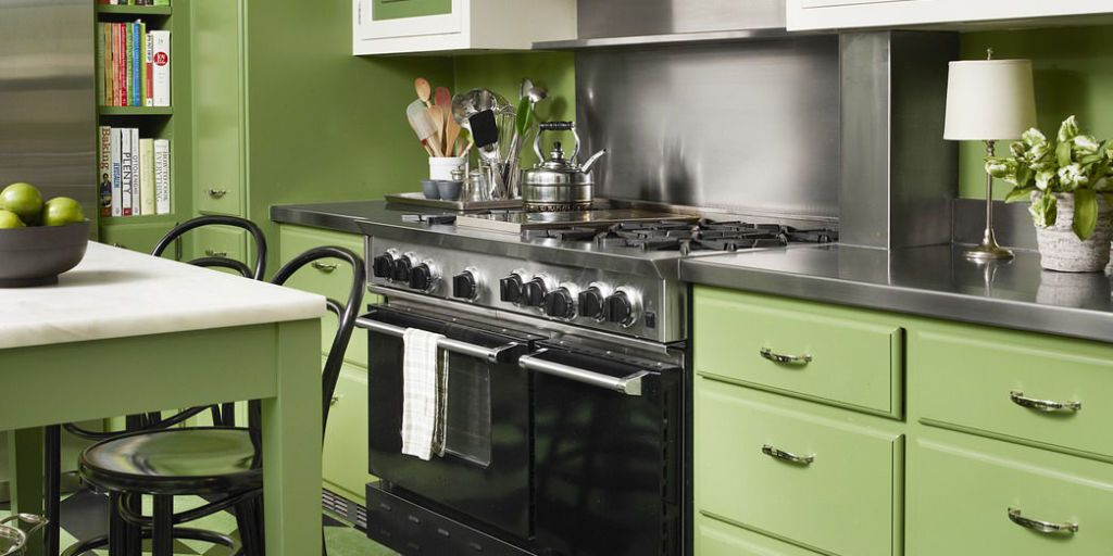 Ranging From Olive Green To Lime Green, These Kitchens Are Packed With  Personality.
