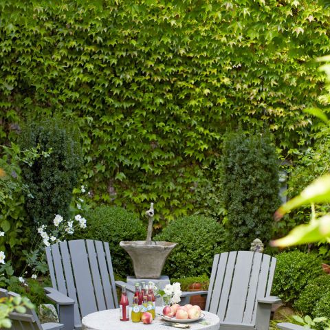 Even if your outdoor area is on the small side, you can still (tastefully) fill it with furniture. Make the most of every inch with a stylish table and chairs that make entertaining a breeze—without making guests feel cramped.
