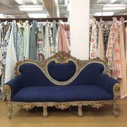 Blue, Room, Textile, Interior design, Couch, Interior design, Lavender, Clothes hanger, Boutique, Collection,