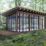 """<strong>Stephan Jaklitsch, Jaklitsch/Gardner Architects: </strong>""""Natural woods such as cedar are being grown at accelerated rates and are not as resistant to rot and decay as they used to be. Companies like <a target=""""_blank"""" href=""""http://kebony.com/en"""">Kebony</a> and <a target=""""_blank"""" href=""""http://cambiawood.com/"""">Cambia by NFP</a> take less durable, more sustainably grown woods and treat them in an ecologically responsible manner to make them more resistant to insect damage and rot.""""<em>The architect's weekend retreat in upstate New York.</em>"""
