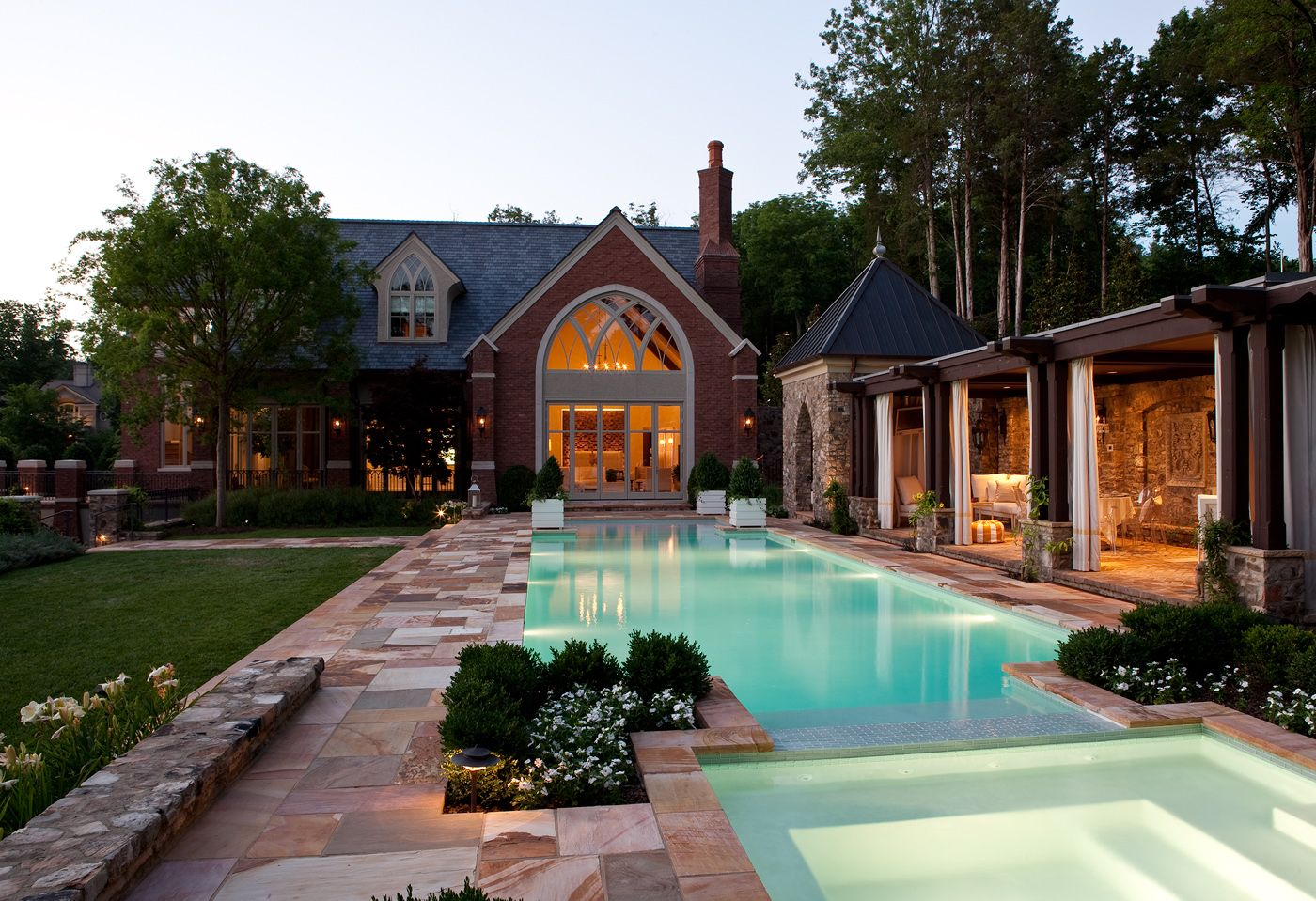 & Interior Designer Jamie Beckwithu0027s Pool House Is A Lesson In Luxury