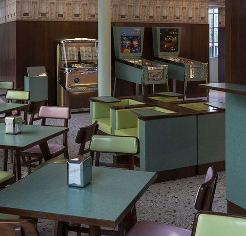 Step Inside The Italian Café Designed By Wes Anderson
